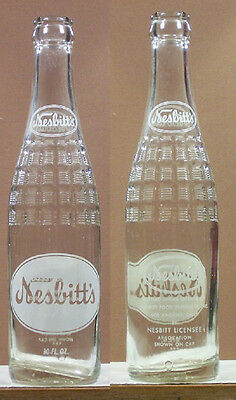 Nesbitt's Old Vintage ACL10 oz Soda Bottle Los Angeles California SB137 x