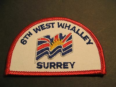 Boy Scouts Canada 6T West Whalley British Columbia Embroidered Patch