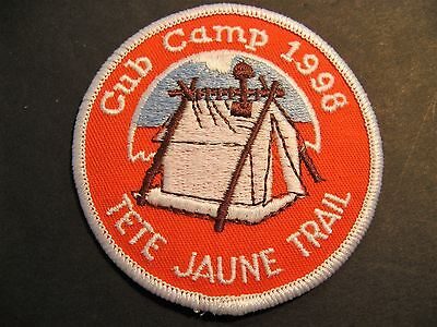 Boy Scouts Canada Cubs Tete Jaune Trail Cub Camp 1998 Embroidered Patch