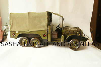 DODGE ARMY TRUCK LKW tin toy tinplate car blechmodell auto handmade