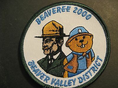 Boy Scouts Canada Beavers Beaver Valley District Beaveree 2000 Embroidered Patch