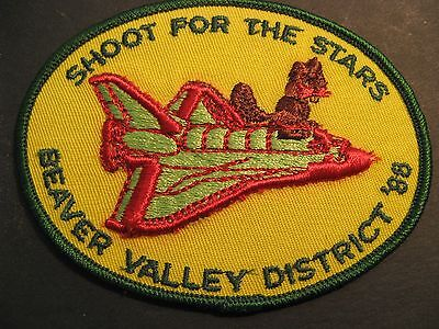 Boy Scouts Canada Beavers Beaver Valley District 1988 Embroidered Patch