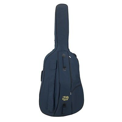 Tom and Will 3/4 Size Padded Double Bass Bag - Blue