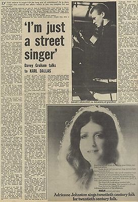 26/4/75Pmm67 Newspaper Clipping : Davey Graham I'm Just A Street Singer