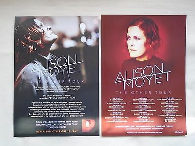 """ALISON MOYET Live in Concert """"The Other Tour"""" UK 2017 Promotional flyers x 2"""