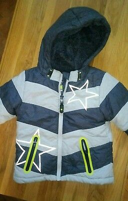 Next Baby Boys Jacket Fleece Lined Size 9-12 Months