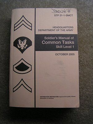 Soldier's Manual of Common Tasks !! Lots of Weapon Maintenance !