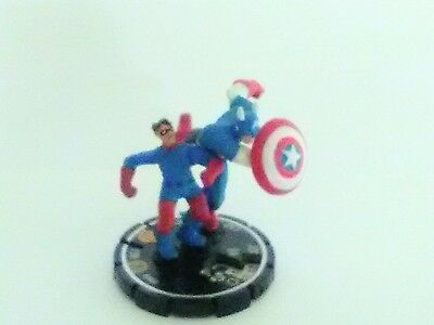 Heroclix Avengers Cap and Bucky #60 Super Rare with Card