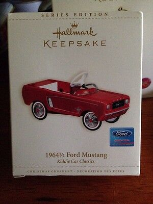 Hallmark 1964 1/2 Ford Mustang Red Pedal Card Christmas Ornament Keepsake