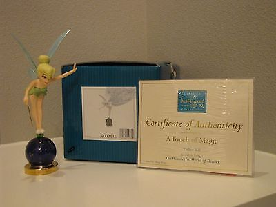 """WDCC PETER PAN - TINKER BELL - """"A Touch of Magic"""" Figurine - Org Box & COA"""