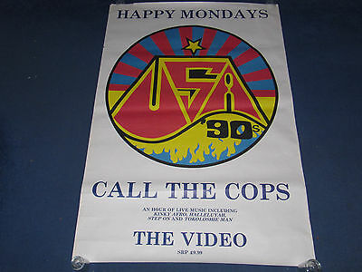 Happy Mondays - Call The Cops - UK Promo Poster (Inspiral Carpets Stone Roses)