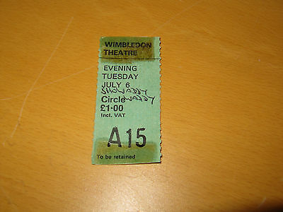 Showaddywaddy - 6th July 1976 - UK Tour Wimbledon Theatre Ticket
