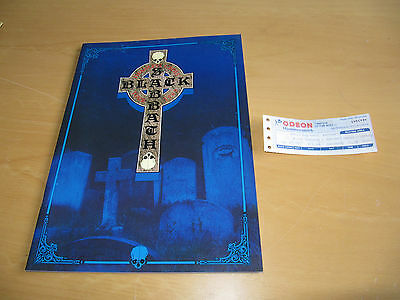 Black Sabbath - 1989 Headless Cross Tour Programme & Hammersmith Ticket  (Promo)