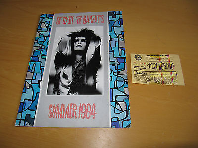 Siouxsie & the Banshees - 1984 Summer Tour Programme & Brighton Ticket   (Promo)