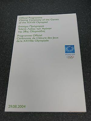 Athens Olympics 2004 Closing Ceremony Official Programme Rare