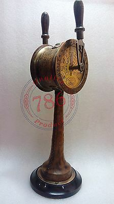 Beautiful Ship Engine Room Brass Leather Telegraph Nautical Collectibles