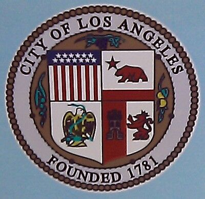 """Los Angeles Police Dept LAPD Decal Sticker 8"""" Inch"""