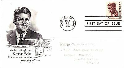 United States Prominent American Series J.F. Kennedy First Day Cover 1967