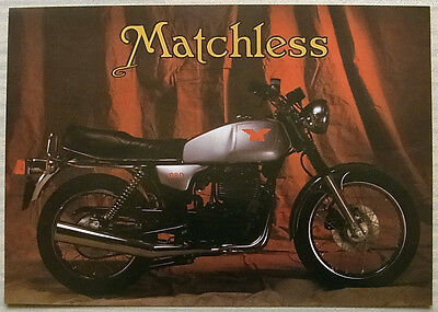 MATCHLESS G80 MOTORCYCLE Sales Specification Leaflet Undated