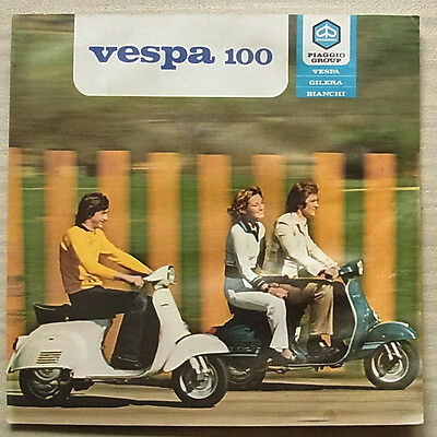 VESPA 100 SCOOTER Sales Brochure c1980?? #DMC 41/80