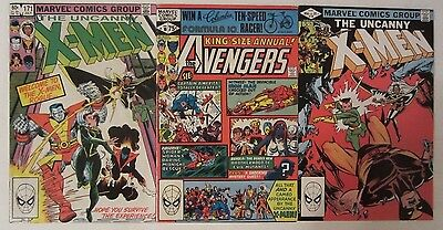 Avengers Annual 10, Uncanny X-Men 158 & 171 Fine/VF 1st Appearance Rogue