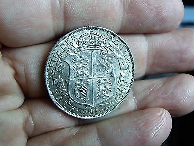 1924 GEORGE V HALFCROWN - VF+  collectors coin, silver.      SC129/18