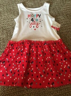 NWT Jumping Beans® Toddler Girls Patriotic July 4th Dress Red/White/Blue Size 5T