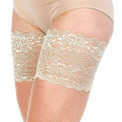 """Bandelettes JASMINE BEIGE -Elastic Anti Chafing Thigh Bands 6"""" in length"""