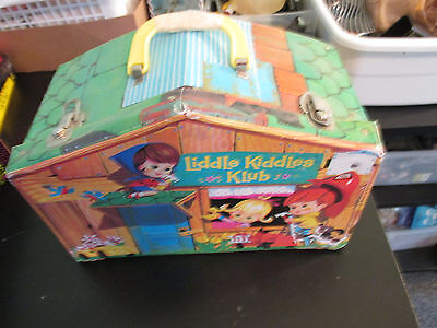 VINTAGE LITTLE KIDDLES KLUB CARRYING CASE with HOUSE & TRACK INSIDE~TOO CUTE