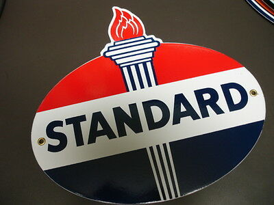 STANDARD GASOLINE Oil Gas Porcelain Advertising Sign....DIECUT SHAPE