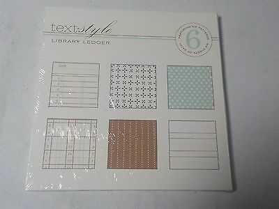 Papertrey Ink Library Ledger 8 X 8 Six Patterns Paper Pack A4015