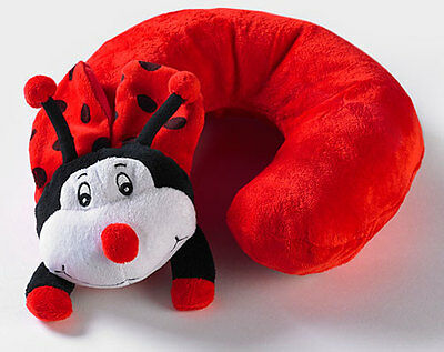 Funky Ladybird Airhead - Inflatable Kids Pillow - Slips Easily Into Hand Luggage