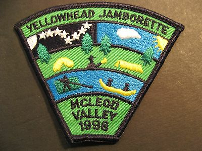 Boy Scouts Canada Yellowhead District Jamborette 1998 Mcleod Valley Patch Badge