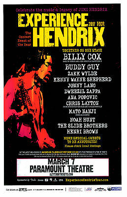 Experience HENDRIX 2017 Tour Paramount - Denver Poster w/ Billy Cox & Buddy Guy
