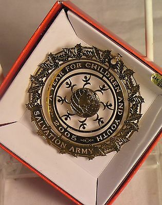 Salvation Army - A YEAR FOR CHILDREN & YOUTH 24K GOLD FLASHED BRASS ORNAMENT