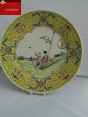Antique oriental chinese hand painted plate