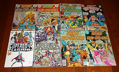 Lot of 8 Superboy # 206-258 ++ DC Comics, 1975-2001 Mike Grell Legion Superheros