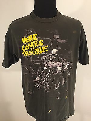 VTG 90s Bad Company Here Comes Trouble Band T Shirt 1992 Short Sleeve Flawed