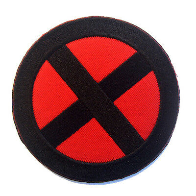 "X MEN X-MEN Hook&Loop 3 1/2"" Tall Patch Embroidery Tactical Morale Badge"