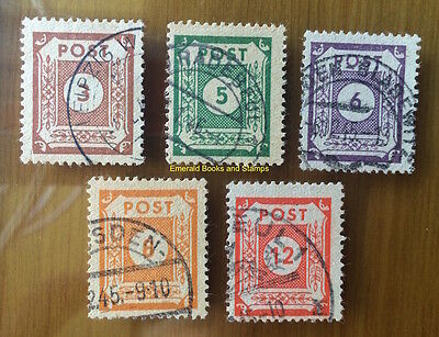 EBS Germany 1945 Soviet Zone - East Saxony - Numerals set Michel 56-60 FU $17.00