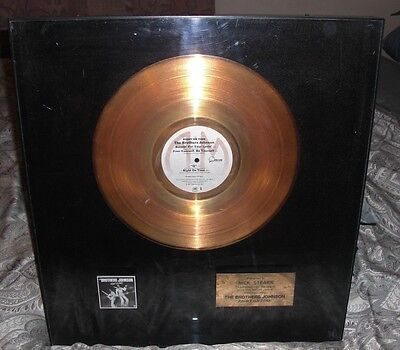 * The Brothers Johnson * GOLD RECORD * Certified A&M Award * Right On Time RARE