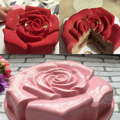 New Silicone Bundt Pan Non Stick Silicone Rose Shaped Cake Mold Baking Molds