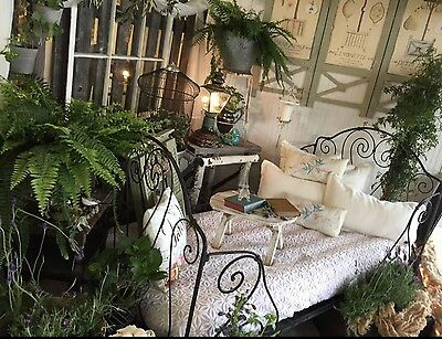 Antique 19th C French Iron Folding Day Bed,, LOCAL PICKUP Lodi,CA