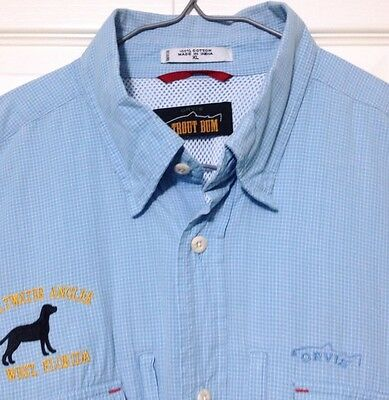 Orvis Trout Bum Fishing Shirt XL Blue The Saltwater Angler