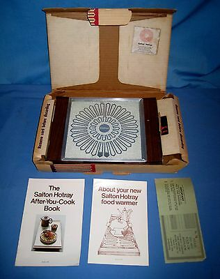 VTG Hot Tray Salton Hotray Automatic Food Warmer #910 Warmer Box/Instructions!