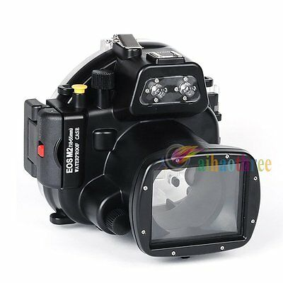 Meikon 40m 130ft Waterproof Diving Case Cover For Canon EOS M2 18-55mm Camera