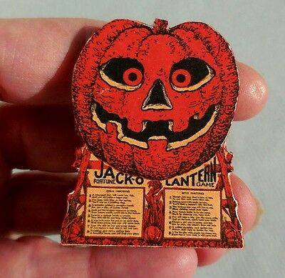 Dollhouse Miniature ~ Halloween ~ Vintage Jack O'lantern Game Board