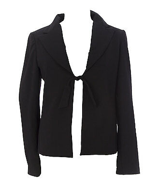 JULES & JIM Maternity Women's Black Classic Kate Suit Jacket Sz M J604 $190 NEW