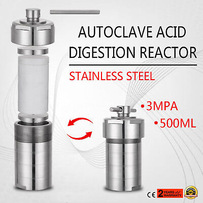 Autoclave Hydrothermal Synthesis Reactor  Kettle Vessel 500 ml Lab Equipment