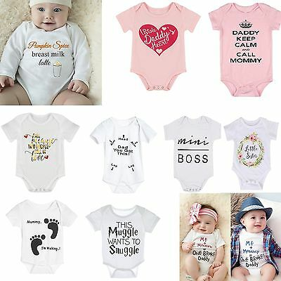 Baby Boy Girl Infant Toddler Newborn Romper Clothes Jumpsuit Bodysuit Outfits